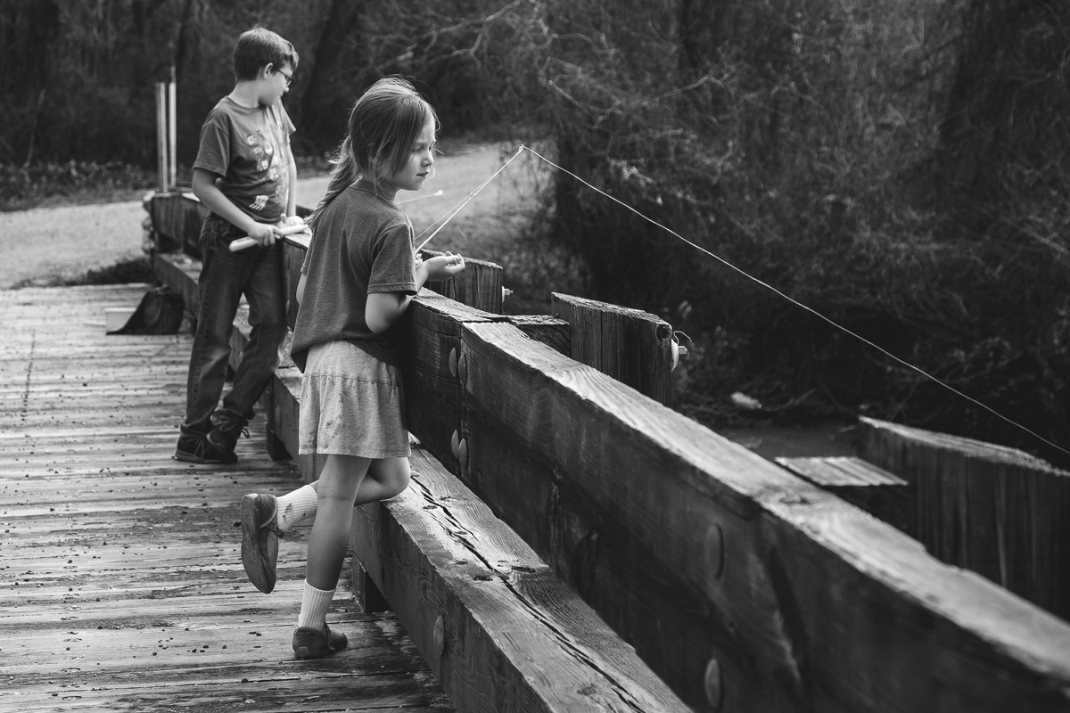 Fishing off the Lorrian Park bridge