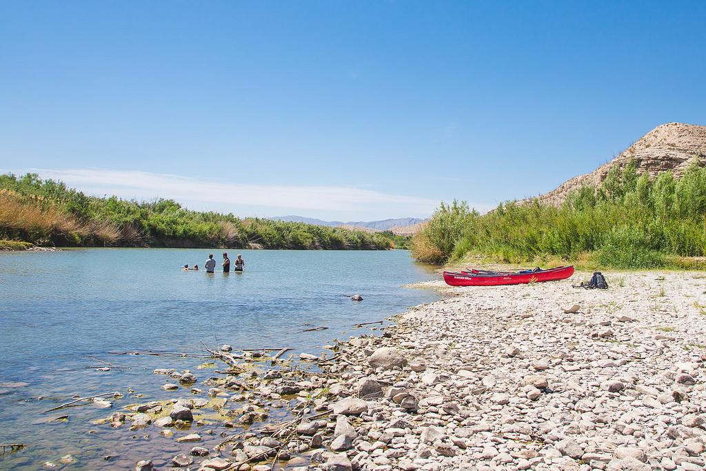 Swimming in the Rio Grande