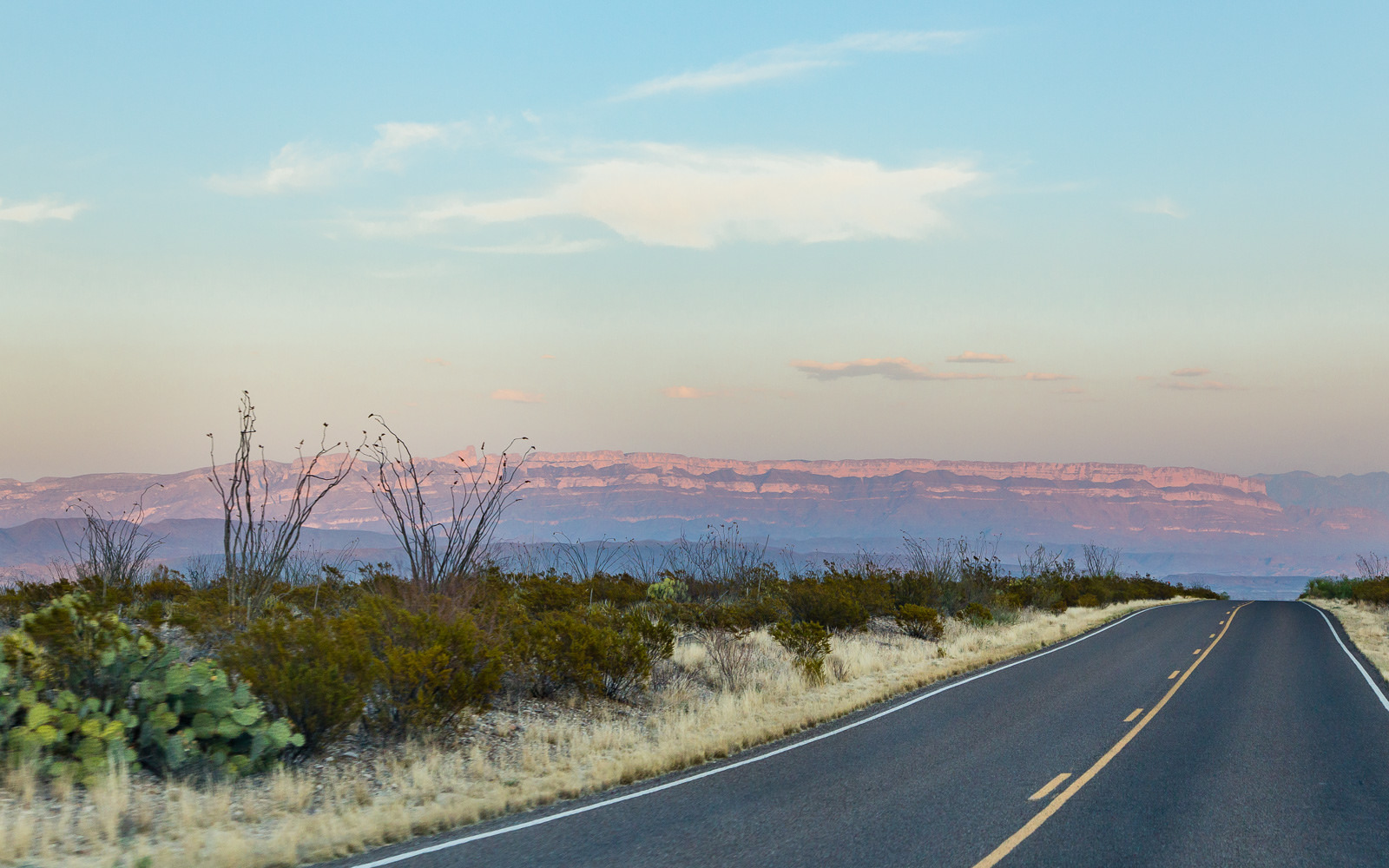 Sunset Road in Big Bend